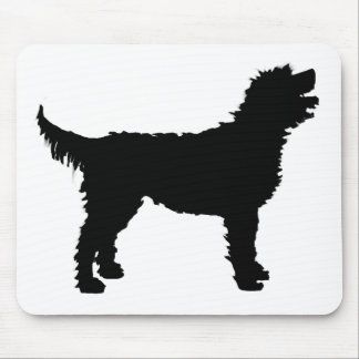 Labradoodle Dog (in black) Mouse Pad