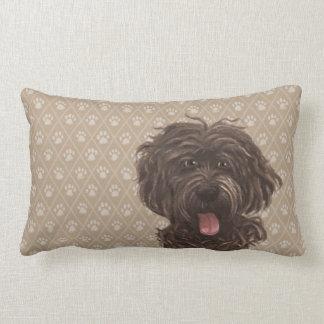 Labradoodle Dog Lumbar Pillow © Sari Ala-Nissilä