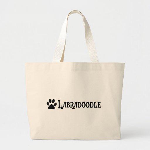 Labradoodle (estilo del pirata con el pawprint) bolsas de mano