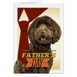 Labradoodle Father's Day Card