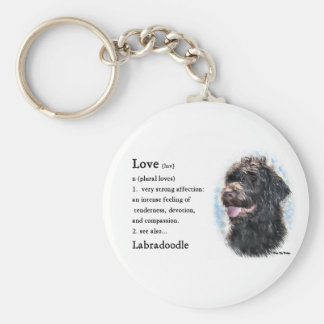 Labradoodle Gifts Basic Round Button Keychain