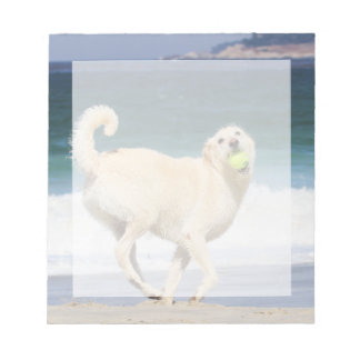 Labradoodle - Happy Day on the Beach Notepad