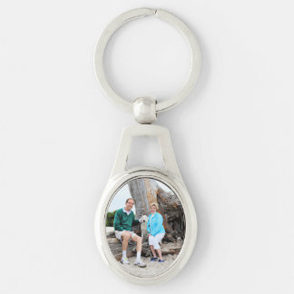 Labradoodle - Izzy Silver-Colored Oval Metal Keychain