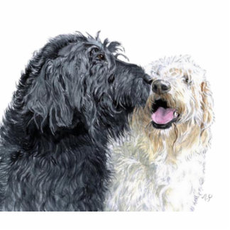 Labradoodle Love Sculpture Standing Photo Sculpture