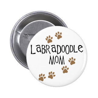 Labradoodle Mom 2 Inch Round Button
