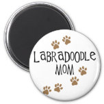 Labradoodle Mom 2 Inch Round Magnet