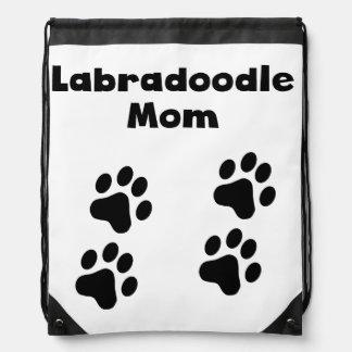 Labradoodle Mom Drawstring Backpack