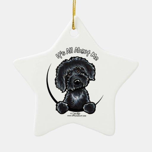 Labradoodle negro IAAM Adorno De Cerámica En Forma De Estrella