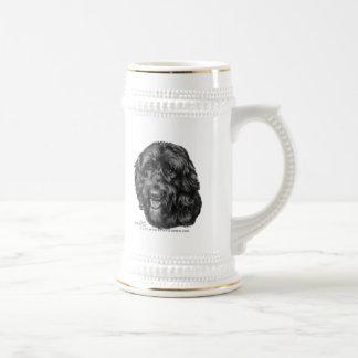 Labradoodle negro tazas
