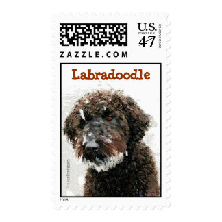 Labradoodle painting Postage