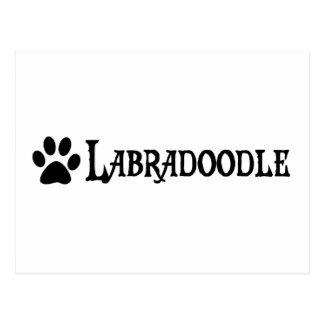 Labradoodle (pirate style w/ pawprint) postcard