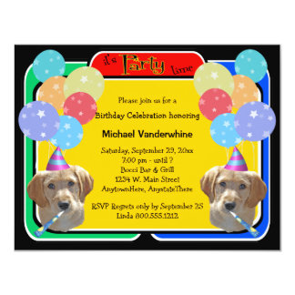 Labradoodle Puppy Birthday Barker Card