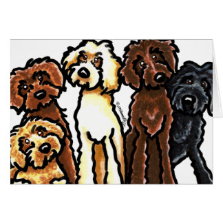 Labradoodle Rainbow Blank Stationery Note Card