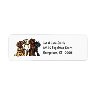 Labradoodle Rainbow Label