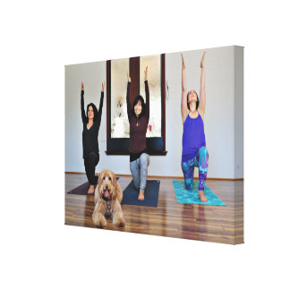 Labradoodle - Riley - Yoga Dog Canvas Print