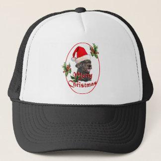 labradoodle Santa Claus Trucker Hat