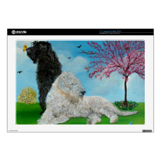 """Labradoodle Spring Decal For 17"""" Laptop"""