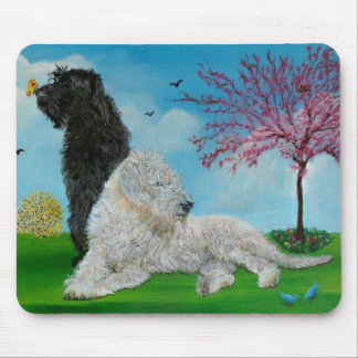 Labradoodle Spring Mouse Pad