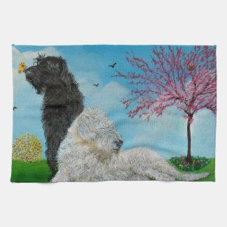 Labradoodle Springtime Towel