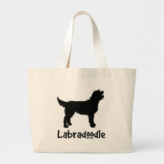 Labradoodle w/ Cool Text Tote Bag