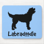Labradoodle w/ Cool Text (in black) Mouse Mat