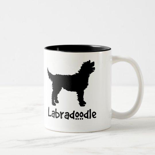 Labradoodle w/ Cool Text (in black) Two-Tone Coffee Mug