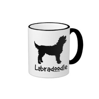 Labradoodle w/ Cool Text Coffee Mugs
