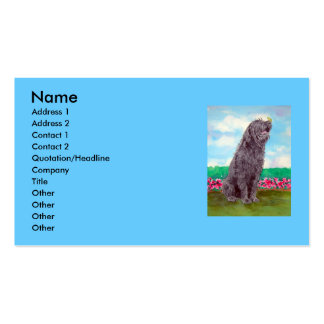 Labradoodle with Butterfly Business Cards