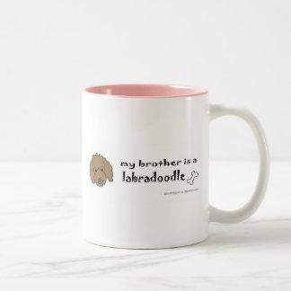 LabradoodleChocoBrother Tazas De Café
