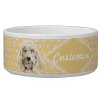 ©LabraDoodleFriends Dog Labradoodle Bowl Yellow