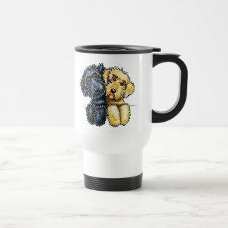 Labradoodles Black Yellow Lined Up 15 Oz Stainless Steel Travel Mug