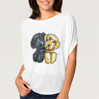 Labradoodles Black Yellow Lined Up T Shirts