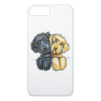 Labradoodles Black Yellow Lined Up White iPhone 8 Plus/7 Plus Case
