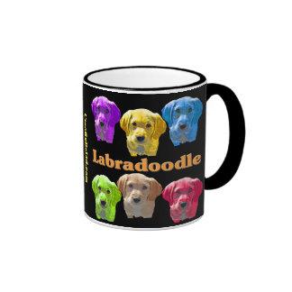 Labradoodles Pop Art Ringer Coffee Mug