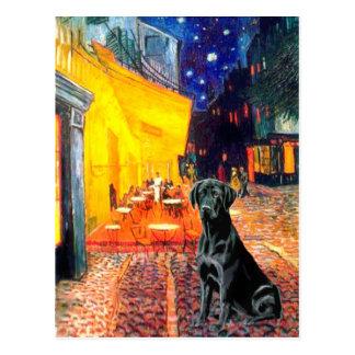 Labrador 1 (black) - Terrace Cafe Postcard