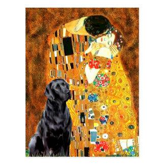 Labrador 4 (black) - The Kiss Postcard