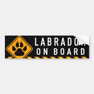 Labrador a bordo pegatina para auto