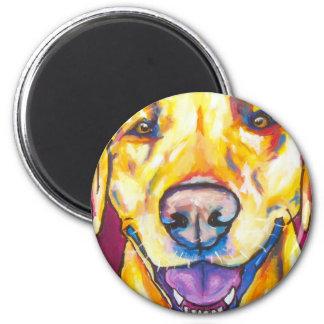 Labrador amarillo 1 imán redondo 5 cm