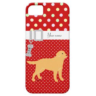 Labrador amarillo 2 con una pequeña lengua funda para iPhone 5 barely there