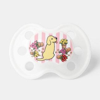 Labrador amarillo dañoso chupetes de bebé