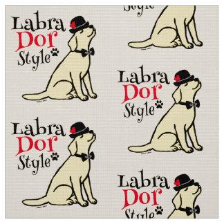 Labrador amarillo elegante telas