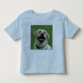 Labrador amarillo embroma la camiseta