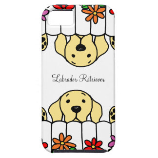 Labrador amarillo que le mira florece iPhone 5 funda