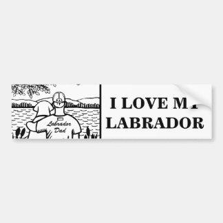 Labrador and Dad Car Bumper Sticker