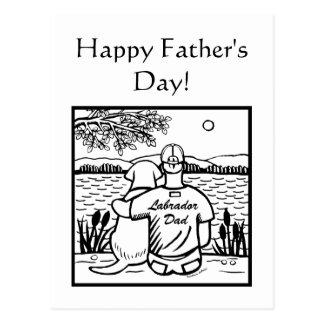 Labrador and Dad Postcard