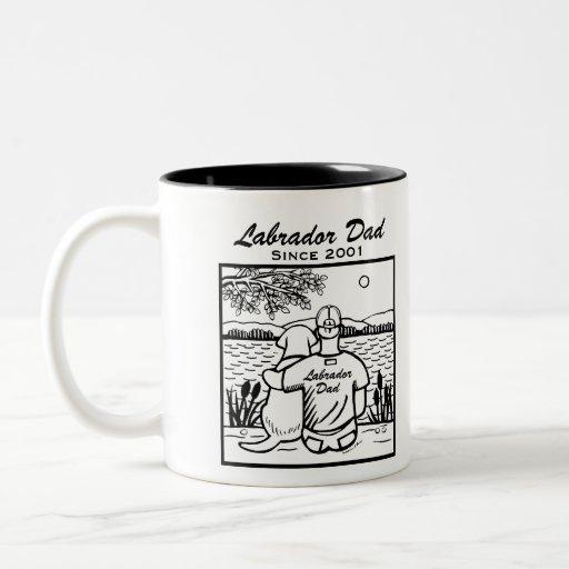 Labrador and Dad Two-Tone Coffee Mug