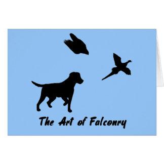Labrador and Falconry Card