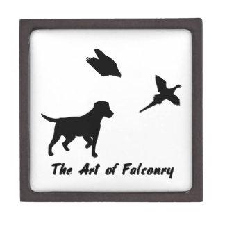 Labrador and Falconry Keepsake Box