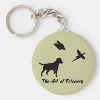 Labrador and Falconry Keychain