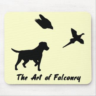 Labrador and Falconry Mouse Pad